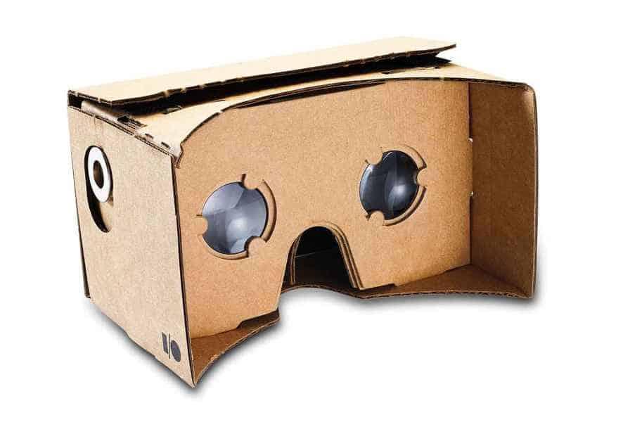 Google Cardboard virtual reality headset device