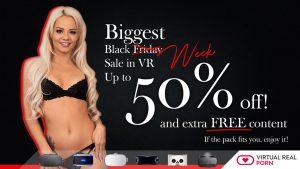 Virtual real porn discount black friday week