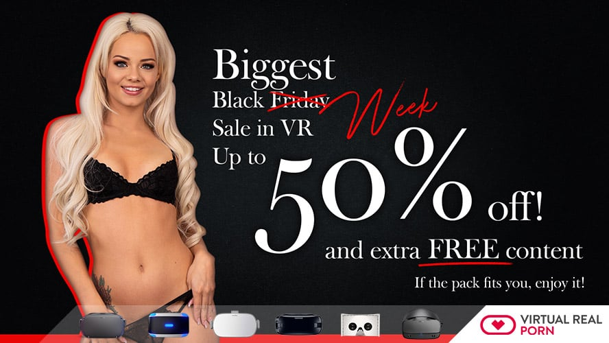 Black Friday Savings on VR Porn Sites
